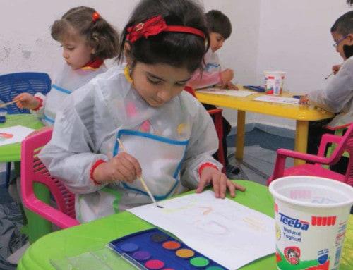 Kindergarten für syrische Flüchtlingskinder mit Kriegstrauma